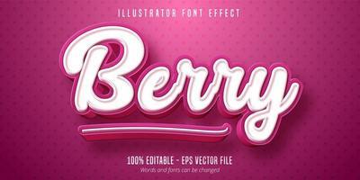 Berry text effect  vector