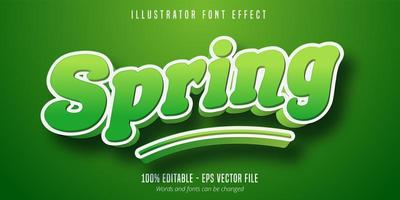 Spring text effect vector