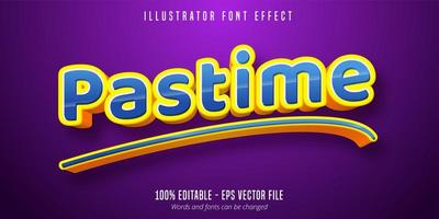 Pastime text effect vector