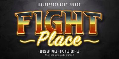Fight place shiny font effect  vector