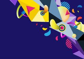Polygon celebration abstract background vector