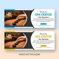 Horizontal spa social media banner set vector