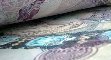 gescheiden bankbiljetten close-up detail