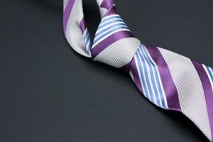 Man's tie on a black background