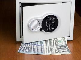 Safe with dollars