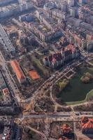 aerial view of Wroclaw city center