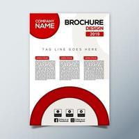 modelo de brochura de negócio cinza vermelho vetor