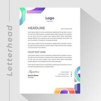 Business letterhead with colorful gradient circle shapes