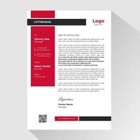 Business letterhead with black and red rectangles vector