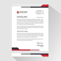 Business letterhead with angled striped borders vector