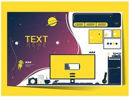 Office and space themed template