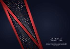 Red Diagonal Overlapping Line Shapes with Dots on Black Background vector