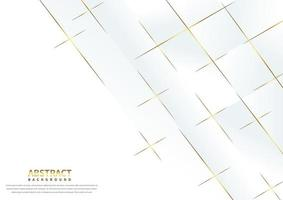Abstact White Background with Gold Overlapping Lines  vector