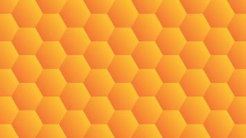 Orange gradient hexagon design vector