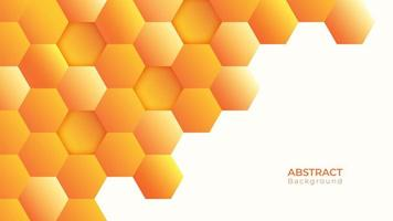 Modern orange hexagon background with white space  vector