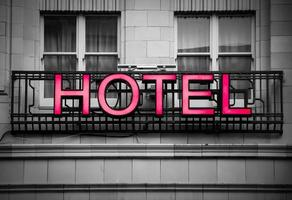 hotel signboard photo
