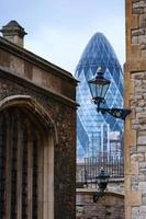 Tower Mary Axe and Tower of London photo