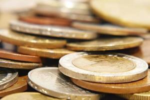 Coins.Soft focus.