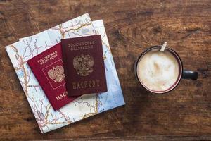 passport and coffee photo