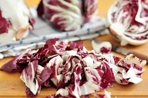 Fresh purple radicchio
