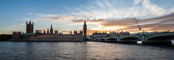 Sunset panorama at Big Ben, London photo