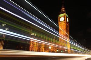 Colours under Big Ben, London, Uk.