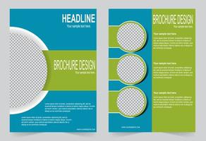 Blue and green cover template