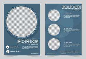 Blue circle image cover set. vector
