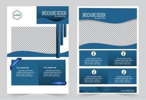 póster en azul para diseño de folleto de portada vector