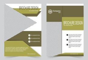 Brochure template green flyer design vector