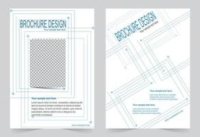 Blue lines cover template