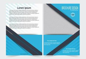 Blue cover for brochure template. vector