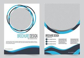 Simple circle design annual report cover template set