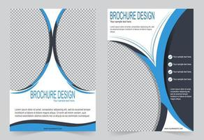 Annual report cover template set  vector