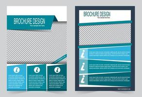 Blue and light blue cover template. vector