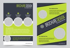 Green lime annual report cover. vector