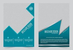 Blue annual report cover design vector