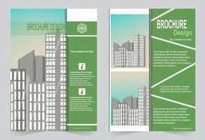Green cover with image space. vector
