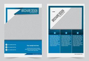 plantilla de portada de informe anual azul y blanco vector