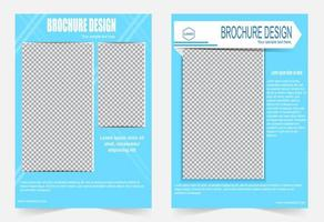 Blue simple  cover brochure with image space vector