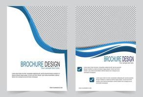 Blue curve cover design vector