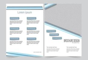 Blue cover template for brochure with sections for copy  vector