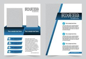 Blue cover for brochure template vector