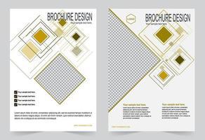 conjunto de plantillas de portada de informe de formas geométricas retro anuales vector