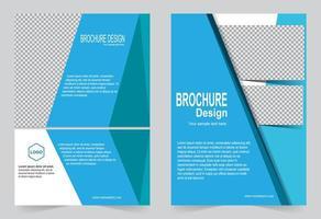 conjunto de plantillas de portada de informe azul simple anual vector