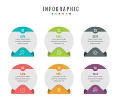 infográfico de negócios modernos com modelo de layout circular
