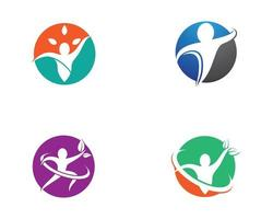 Sport health logo icon set