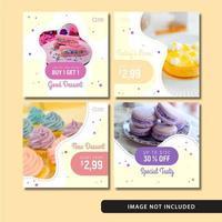 Yummy Dessert Social Media Post Template Set