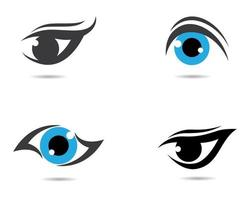conjunto de logotipo de símbolo de globo ocular