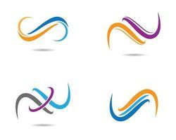 conjunto de símbolos de líneas infinitas vector